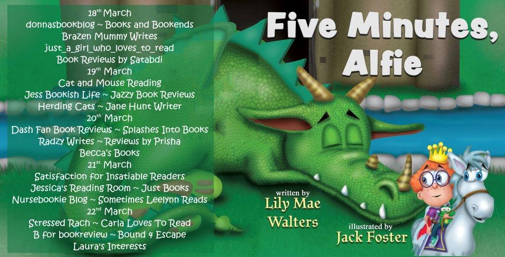 Five Minutes, Alfie full blog tour list