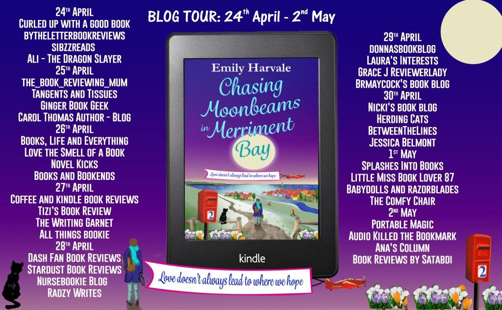 Chasing Moonbeams in Merriment Bay blog tour schedule