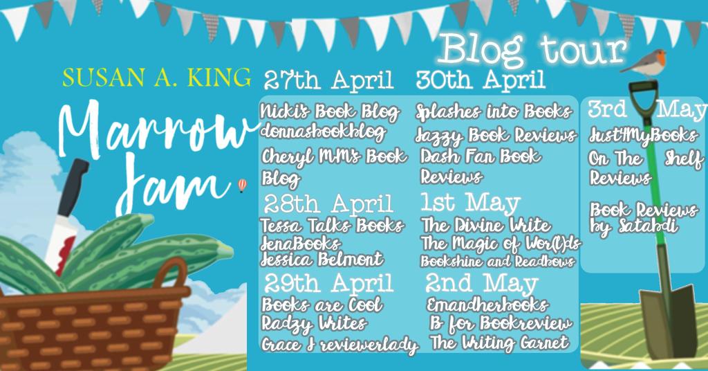 Marrow Jam by Susan A. King blog tour schedule