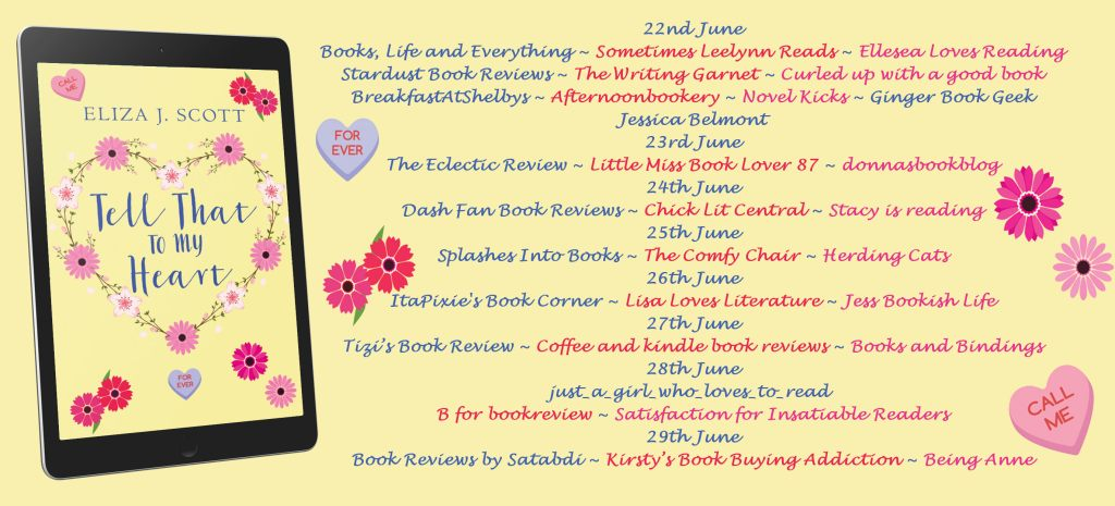 Tell That to My Heart blog tour schedule