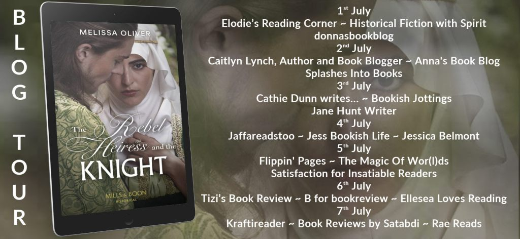 The Rebel Heiress and the Knight blog tour schedule