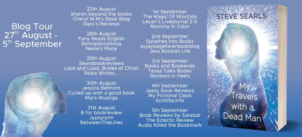 My Travels With A Dead Man blog tour schedule
