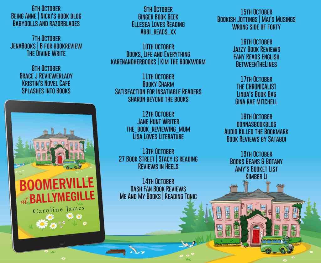 Boomerville at Ballymegille full blog tour schedule