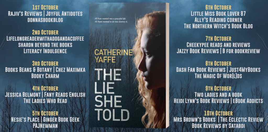 The Lie She Told blog tour schedule