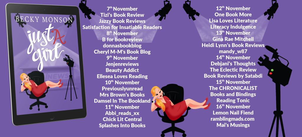 Just A Girl full blog tour schedule