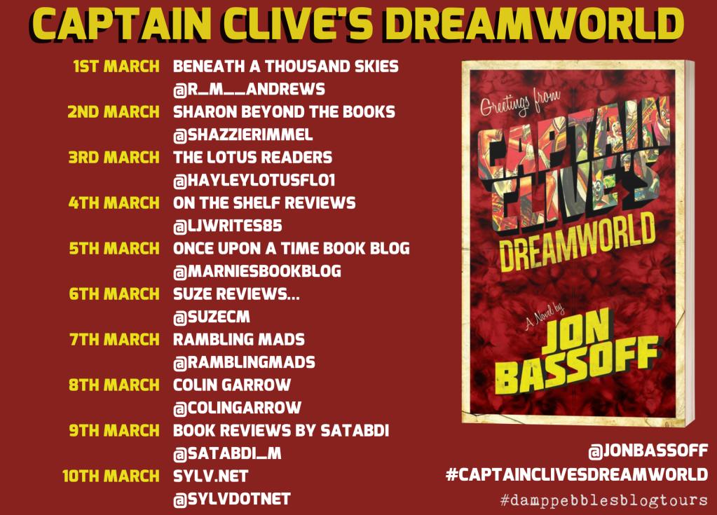 Captain Clive's Dreamworld full blog tour schedule