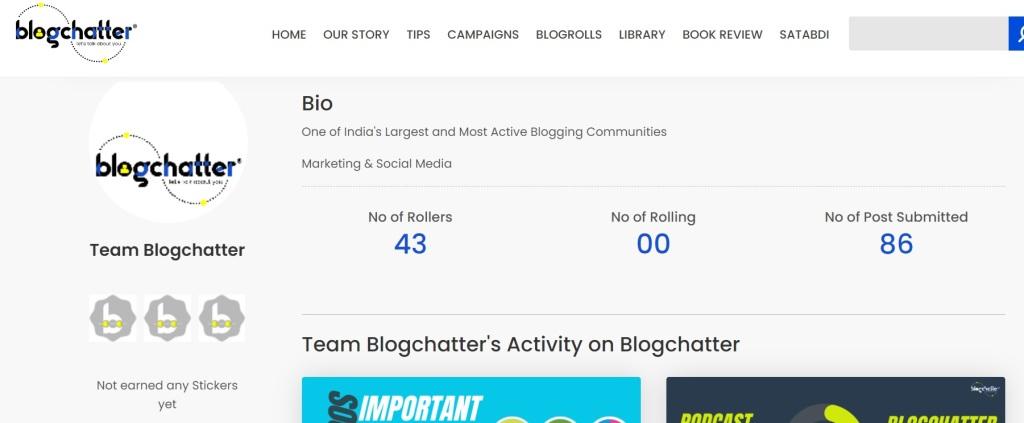 Team Blogchatter Bio
