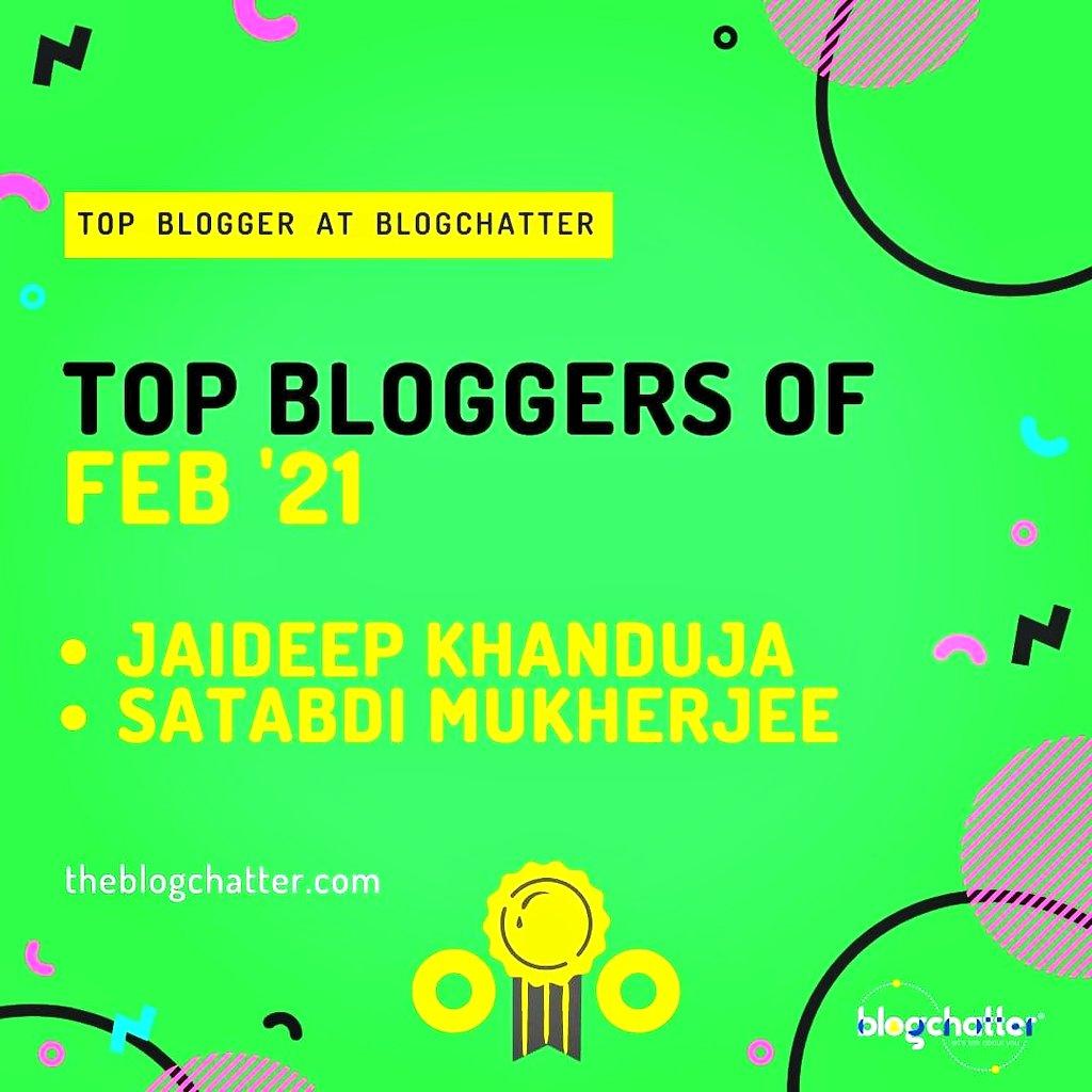 Top Blogger Blogchatter Satabdi