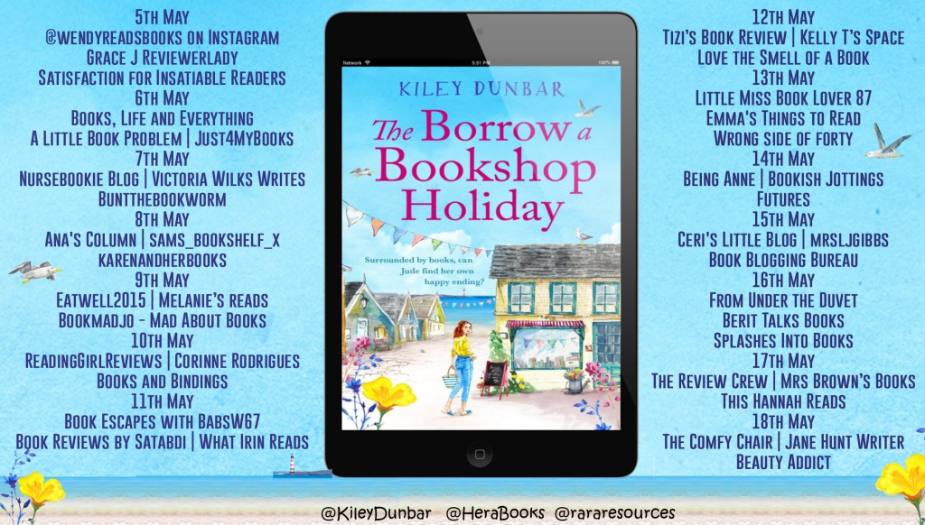 The Borrow a Bookshop Holiday tour schedule
