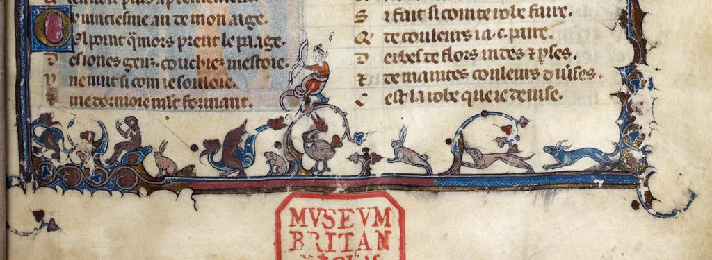 Drollery medieval marginalia