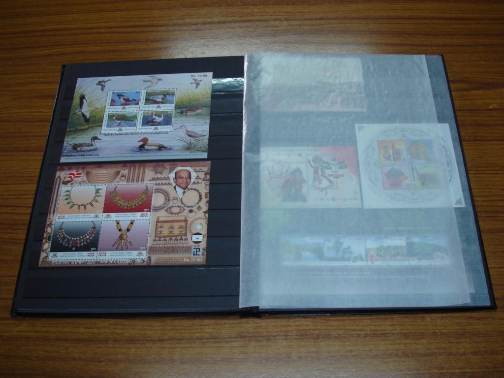 Glassine paper stamp book