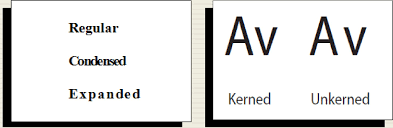 Kerning example