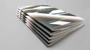 Saddle stitch binding booklet