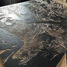 Woodcut design preparation