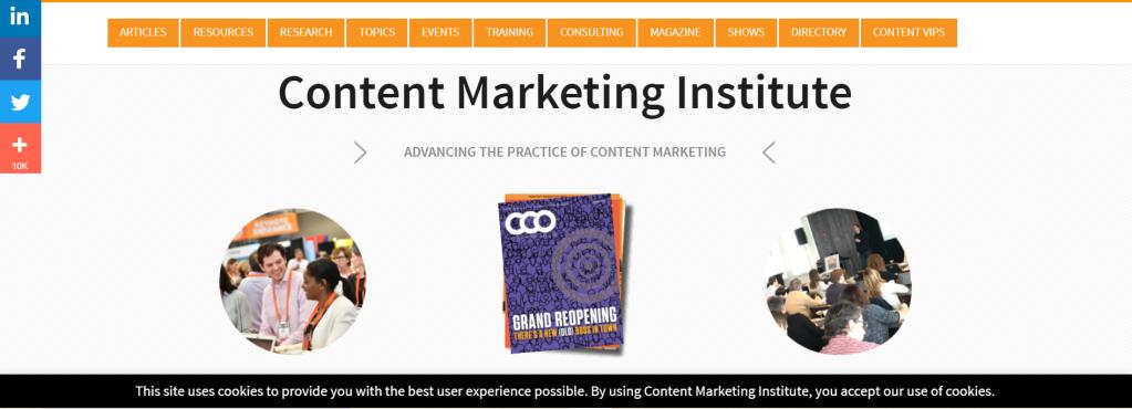 Content Marketing Institute website