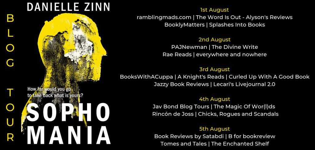 Sophomania blog tour schedule