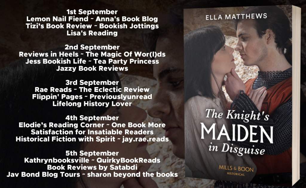 The Knight's Maiden in Disguise blog tour schedule